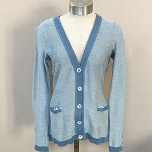 Anthropologie SPARROW Blue Boyfriend Cardigan